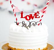 Alphabet LOVE Birthday Cake Bunting Banner Kit DIY Birthday Cake Topper Decoration