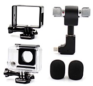 Smooth Frame Protective Case Microphone Mini Style All in One Convenient Dust Proof For Action Camera Gopro 4 Gopro 3 Gopro 3+ Universal