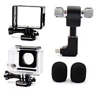 Гладкая Рамка защитный футляр Микрофон Мини Многофункциональный Удобный Защита от пыли Для Экшн камера Gopro 4 Gopro 3 Gopro 3+