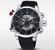cheap -WEIDE® Men's Double Movement Analog Digital Date Alarm Stopwatch Display Waterproof PU Strap Watch Cool Watch Unique Watch Fashion Watch