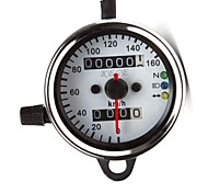 cheap -12V Universal Motorcycle Dual Odometer Speed Meter Gauge LED Backlight Signal