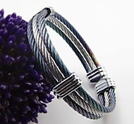 Triple Layer Colorful Stainless Steel Wire Cable Bangle