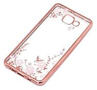 For Samsung Galaxy Case Transparent Case Back Cover Case Flower TPU Samsung J7 / J5 (2016) / J5 / J3