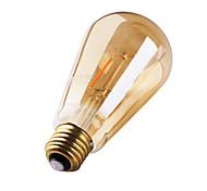 cheap -1pc 3W 180 lm E26/E27 LED Filament Bulbs ST64 2 leds COB Decorative Warm White AC 220-240V