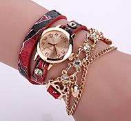 preiswerte -Damen Quartz Armband-Uhr Schlussverkauf Leder Band Blume Modisch Schwarz Weiß Blau Orange Braun Rosa