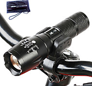 A100 Lampes Torches LED LED 3000 Lumens 5 Mode Cree T6 Batteries non incluses Faisceau Ajustable Résistant aux impacts Surface