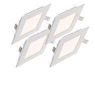economico -2800-6500 lm Luci a pannello 30pcs leds SMD 2835 Decorativo Bianco caldo Luce fredda Bianco AC 85-265V
