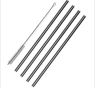 4 Pack of Straws Stainless Steel Drinking Reusable One Brush Set Cleaning for Yeti Tumbler