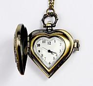 Недорогие -Муж. Карманные часы Кварцевый С гравировкой сплав Группа Серебристый металл Желтый