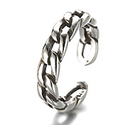 Unisex Vintage Pattern Punk Antique Chain Sterling Silver Ring Band Rings Daily / Casual 1pc