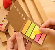 cheap -Kraft Paper Cover Colorful Stripe Self-Stick Notes(1 PCS)