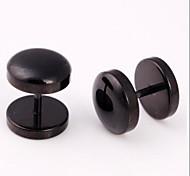 Orecchini a bottone Acciaio al titanio Gioielli Quotidiano Casual 1 pezzo