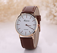 Men's Luxury Leather Band White Case Dress Style Watch Jewelry Wrist Watch Cool Watch Unique Watch