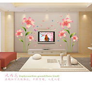 cheap -Romance Fashion Florals Wall Stickers Plane Wall Stickers Decorative Wall Stickers, PVC Home Decoration Wall Decal Wall
