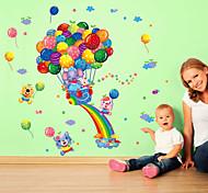 Недорогие -Мультипликация Мода Наклейки Простые наклейки Декоративные наклейки на стены материал Съемная Украшение дома Наклейка на стену