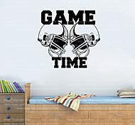 4050 American Football Helmets GAME TIME Sports Wall Decal Sticker Vinyl Art Decor Free Shipping