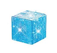 Недорогие -Конструкторы Кубики-головоломки 3D пазлы Пазлы Хрустальные пазлы Игрушки 3D Своими руками Хрусталь Дети Куски