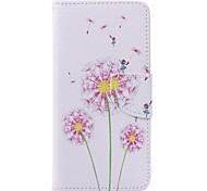 Pink Dandelion Painted PU Phone Case for Huawei P9/P9lite Cases / Covers for Huawei