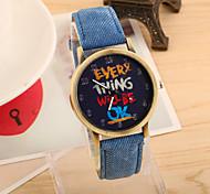 cheap -Women's Quartz Wrist Watch Hot Sale PU Band Vintage Fashion Black White Blue Red Green Yellow