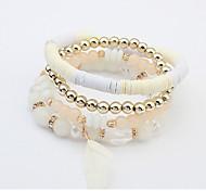 Bracelet/Charm Bracelets   Strand Bracelets Alloy  Acrylic Wedding  Party Daily  Casual Jewelry Dark Blue / Light Blue / Christmas Gifts