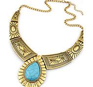 preiswerte -Damen Tropfen Statement Ketten  -  Retro Party Freizeit Silber Golden Modische Halsketten Für Party Alltag Normal