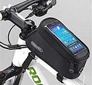 ROSWHEEL Bike Frame Bag Cell Phone Bag 4.2 inch Waterproof Zipper Wearable Moistureproof Shockproof Touch Screen Cycling for Samsung