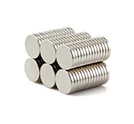 Недорогие -Магнитные игрушки Конструкторы Сильные магниты из редкоземельных металлов 50 Куски 10*1.5mm Игрушки Магнит Круглый Подарок