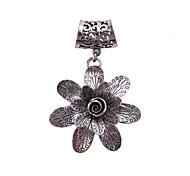 Недорогие -античный серебряный цветок брошь шарф пряжки ювелирные аксессуары шарф кольцо для леди