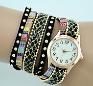 Women's European Style Fashion New Bohemian Ethnic Style Wrapped Bracelet Watch Strap Watch