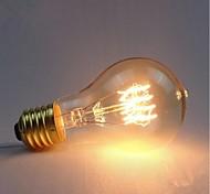 cheap -E27 AC220-240V 40W Silk Carbon Filament Incandescent Light Bulbs A19 Around Pearl