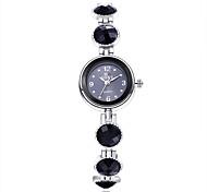 Недорогие -Женские Модные часы Часы-браслет Кварцевый сплав Группа Цветы Элегантные часы Черный