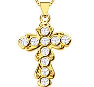 Plaqué croisées de mode pendentifs femmes ou des hommes de haute qualité 18k or charme cadeau de bijoux colliers pendentifs p30091