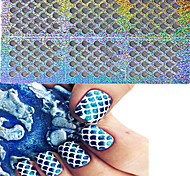 1set 24 Styles Nail Art Hollow Stickers Star Heart Flower Colorful Design Nail Beauty STZK01-24