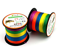 cheap -0.8-8.0# Multicolored Braided Fishing Line Dyneema Fishing Line Super-4 Encoding 300M PE Fishing Line