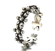 Unisex Vintage Pattern Punk Flower Antique Sterling Silver Ring Band Rings Daily / Casual 1pc