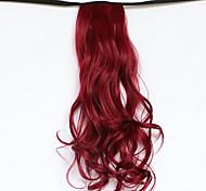 красный длина 50см новый тип пояса длинные вьющиеся парик хвощ волосы поддельные конский хвост (цвет 118с)