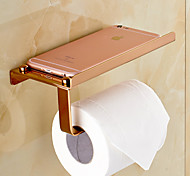 Toilet Paper Holder / Gold Brass /Contemporary
