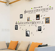 cheap -Still Life Fashion Music Vintage Leisure Wall Stickers Plane Wall Stickers Decorative Wall Stickers, PVC Home Decoration Wall Decal Wall