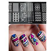 1pcs  New Nail Art Stamping Plates  DIY Geometric Image Templates Tools Nail Beauty XY-J02