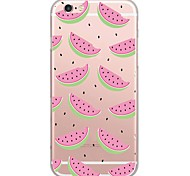 For iPhone 7 MAYCARI® The Delicious Watermelon Transparent TPU Back Case for iPhone 6s 6 Plus