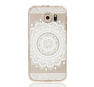 For Samsung Galaxy S7 Edge Transparent / Pattern Case Back Cover Case Lace Printing Soft TPU S7 edge / S7 / S6 edge / S6