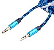 Недорогие -3,5 мм стерео между мужчинами аудио кабель алюминиевый корпус гальванического золота головки (сортированный цвет 1м 3 фута)