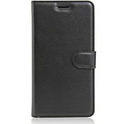 cheap -For Wiko Case Case Cover Card Holder with Stand Flip Full Body Case Solid Color Hard PU Leather for Wiko