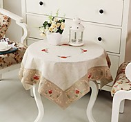 Tablecloth Embroidered Tablecloth Linen Tablecloth 33.5*33.5 inches 85*85cm