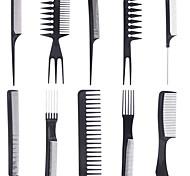 10 Pieces / Sets Of Cosmetic Comb Professional Hair Comb Anti-Static Comb Black Comb