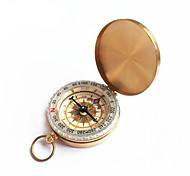 boussole boussole montre de poche flip lueur dorée
