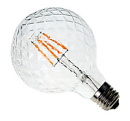 abordables -1pc 4W 300-350 lm E26/E27 Bombillas de Filamento LED G60 4 leds COB Decorativa Blanco Cálido AC 220-240V