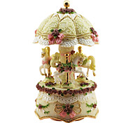 cheap -Pottery Pink Creative Romantic Music Box for Gift