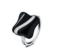 cheap -Women's Silver Plated Statement Ring - Fashion Silver Ring For Wedding / Party / Daily