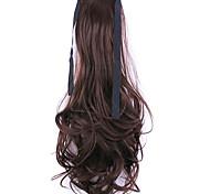 черно-белый длина 50см завод прямые продажи связать тип локон хвощ волос хвостик (цвет 33J)